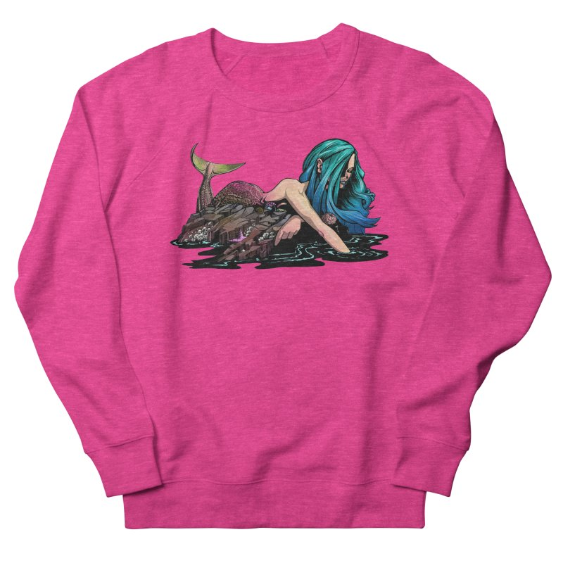 Mermaid on the Rocks Women's Sweatshirt by Cory Kerr's Artist Shop (see more at corykerr.com)