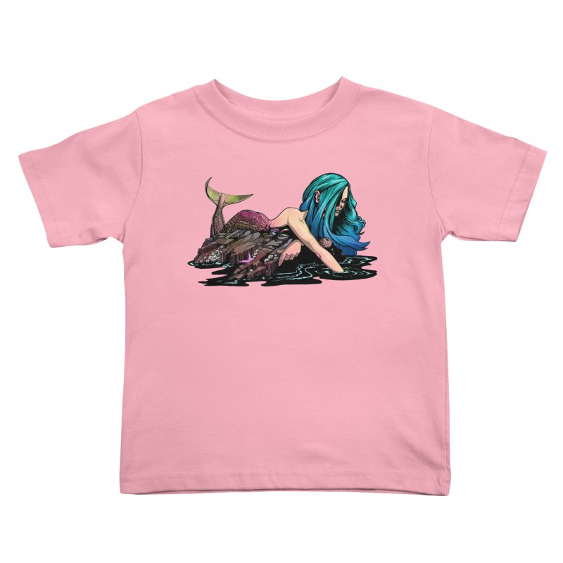 Mermaid on the Rocks Kids Toddler T-Shirt by Cory Kerr's Artist Shop (see more at corykerr.com)