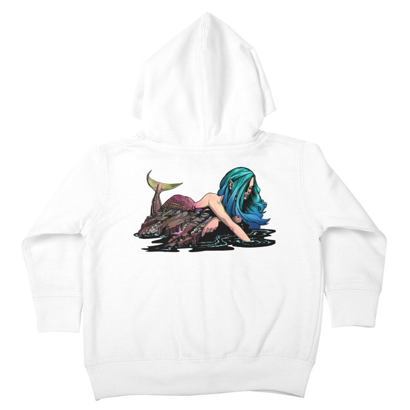 Mermaid on the Rocks Kids Toddler Zip-Up Hoody by Cory Kerr's Artist Shop (see more at corykerr.com)