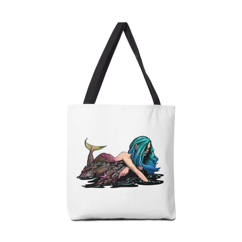 Mermaid on the Rocks Accessories Bag by Cory Kerr's Artist Shop (see more at corykerr.com)