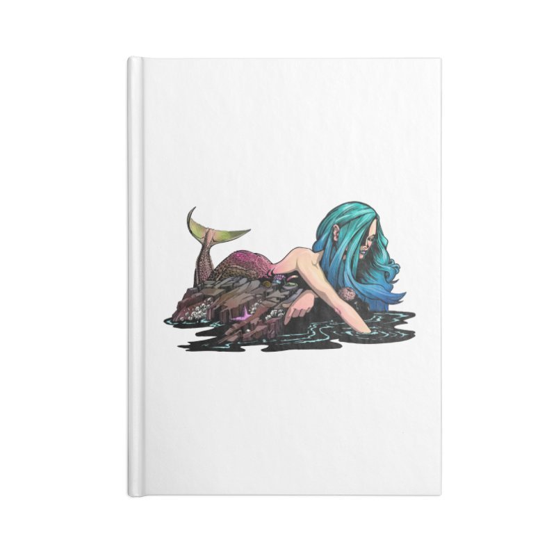 Mermaid on the Rocks Accessories Notebook by Cory Kerr's Artist Shop (see more at corykerr.com)