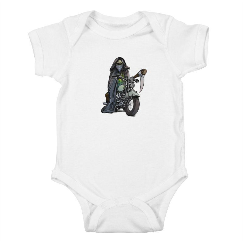 Four Riders: Death Kids Baby Bodysuit by Cory Kerr's Artist Shop (see more at corykerr.com)