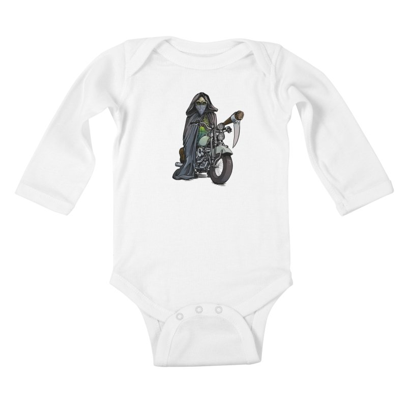 Four Riders: Death Kids Baby Longsleeve Bodysuit by Cory Kerr's Artist Shop (see more at corykerr.com)