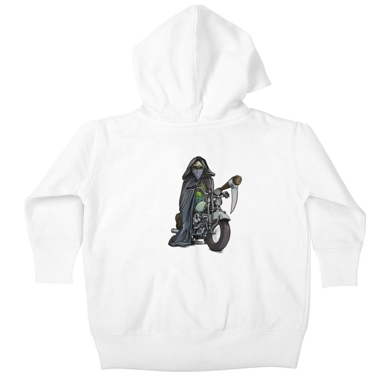 Four Riders: Death Kids Baby Zip-Up Hoody by Cory Kerr's Artist Shop (see more at corykerr.com)