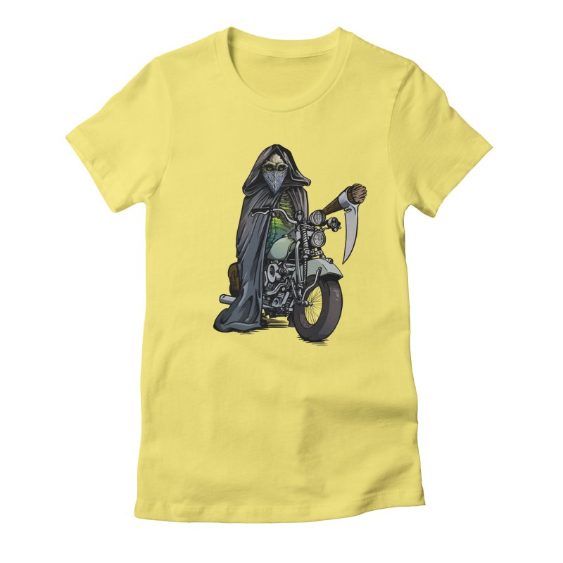 Four Riders: Death Women's Fitted T-Shirt by Cory Kerr's Artist Shop (see more at corykerr.com)