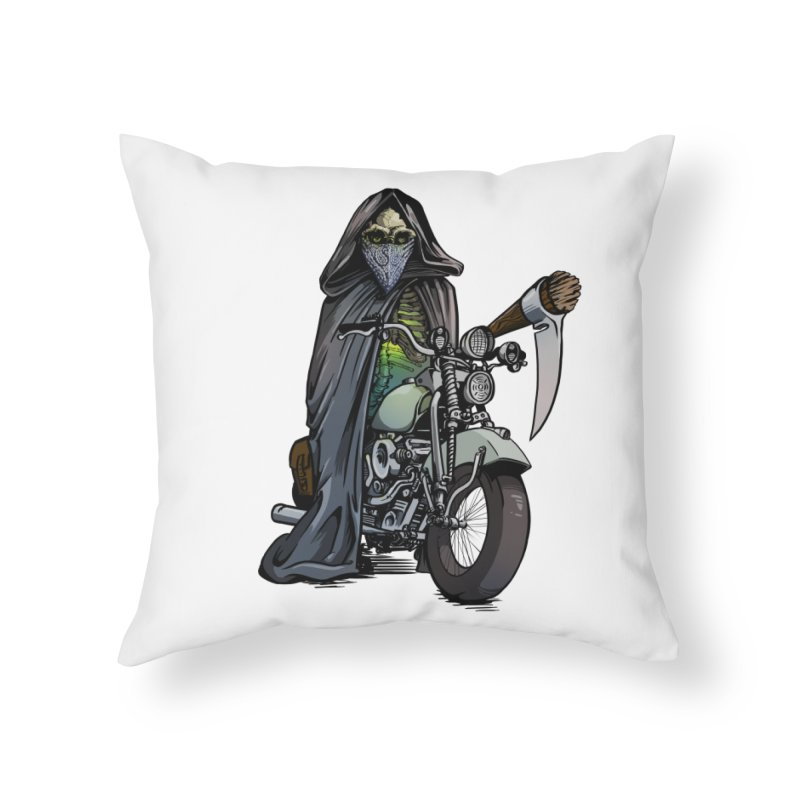 Four Riders: Death Home Throw Pillow by Cory Kerr's Artist Shop (see more at corykerr.com)
