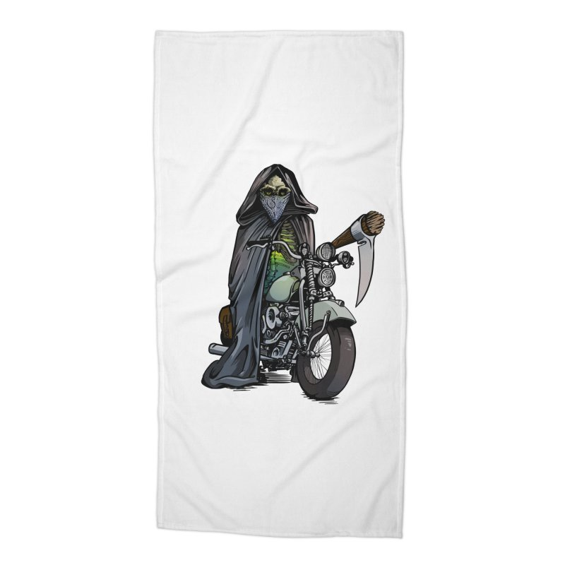 Four Riders: Death Accessories Beach Towel by Cory Kerr's Artist Shop (see more at corykerr.com)