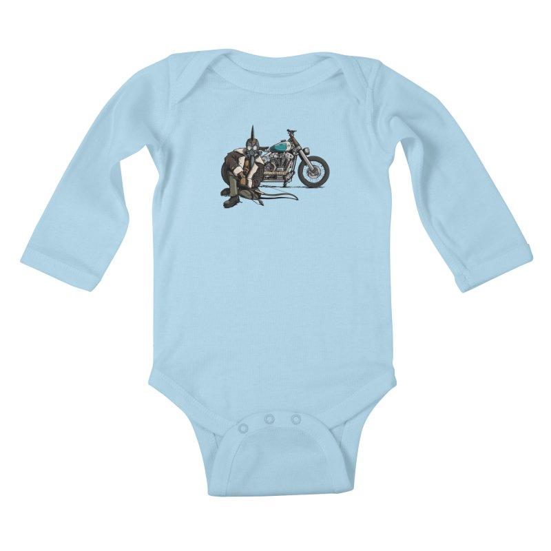 Four Riders: Pestilence Kids Baby Longsleeve Bodysuit by Cory Kerr's Artist Shop (see more at corykerr.com)