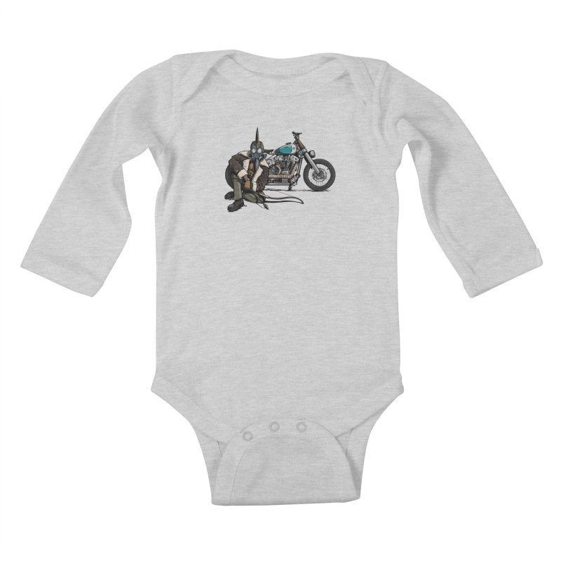Four Riders: Pestilence Kids Baby Longsleeve Bodysuit by Cory Kerr's Artist Shop (see more at corykerr.com)