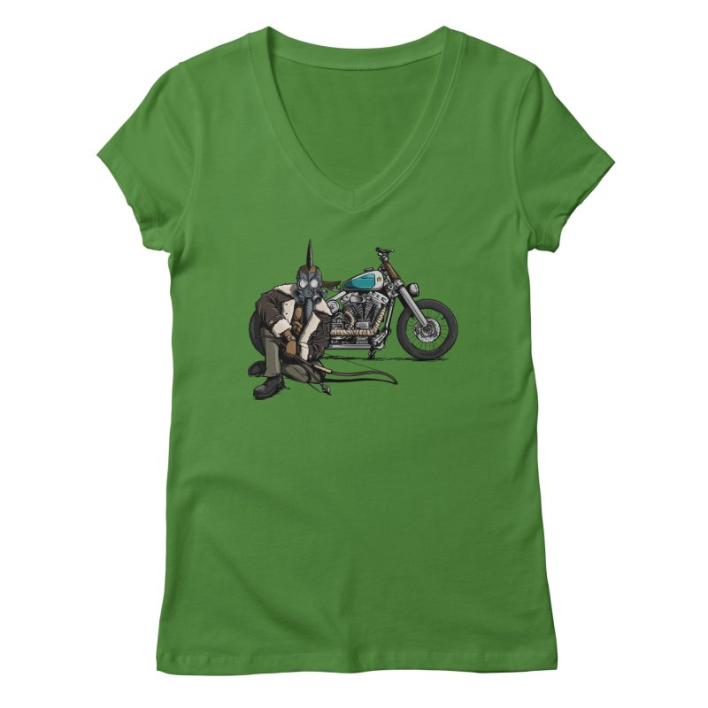 Four Riders: Pestilence Women's V-Neck by Cory Kerr's Artist Shop (see more at corykerr.com)
