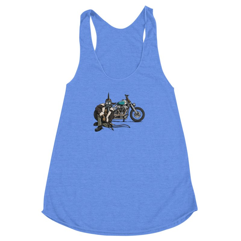 Four Riders: Pestilence Women's Racerback Triblend Tank by Cory Kerr's Artist Shop (see more at corykerr.com)