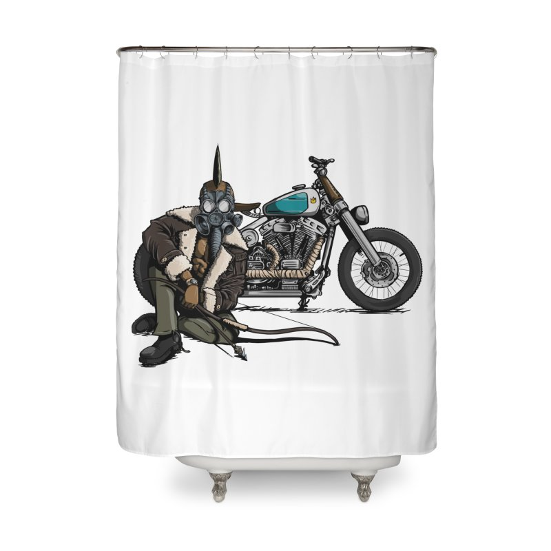 Four Riders: Pestilence Home Shower Curtain by Cory Kerr's Artist Shop (see more at corykerr.com)