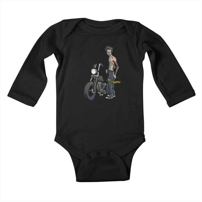Four Riders: Famine Kids Baby Longsleeve Bodysuit by Cory Kerr's Artist Shop (see more at corykerr.com)