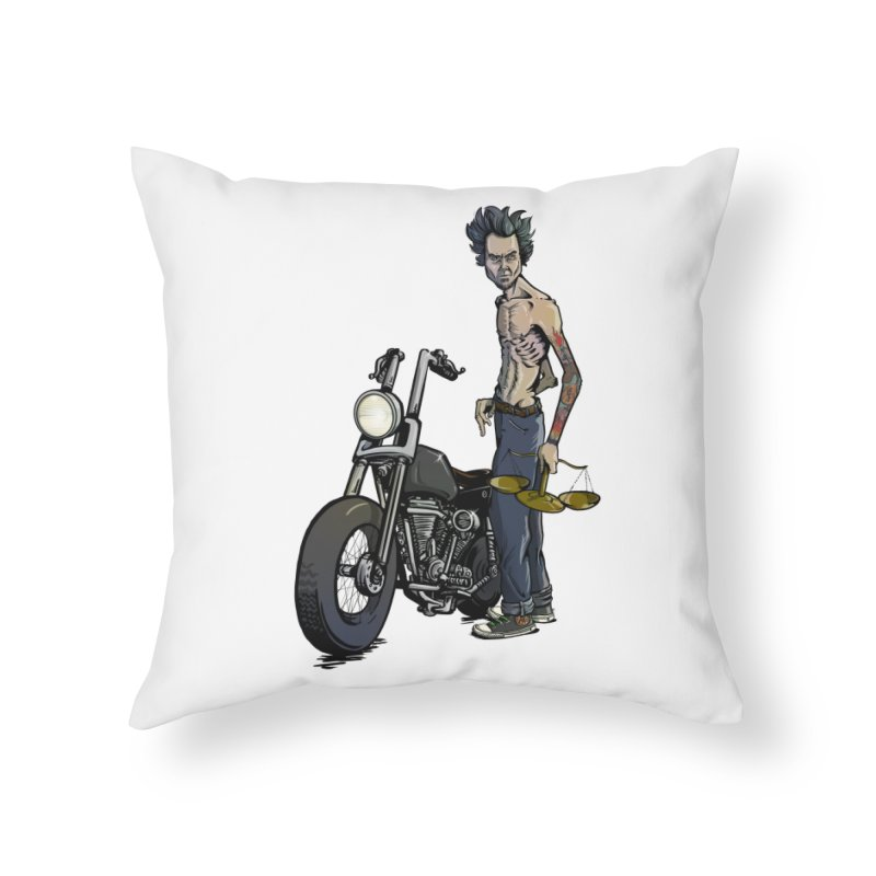 Four Riders: Famine Home Throw Pillow by Cory Kerr's Artist Shop (see more at corykerr.com)