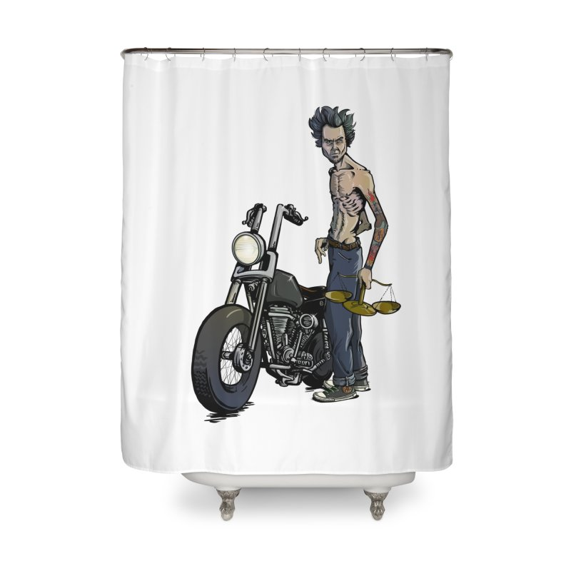 Four Riders: Famine Home Shower Curtain by Cory Kerr's Artist Shop (see more at corykerr.com)