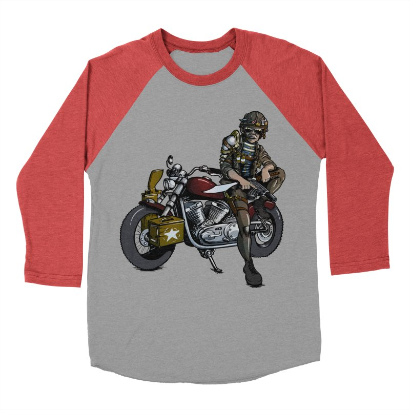 Four Riders: War Men's Baseball Triblend T-Shirt by Cory Kerr's Artist Shop (see more at corykerr.com)