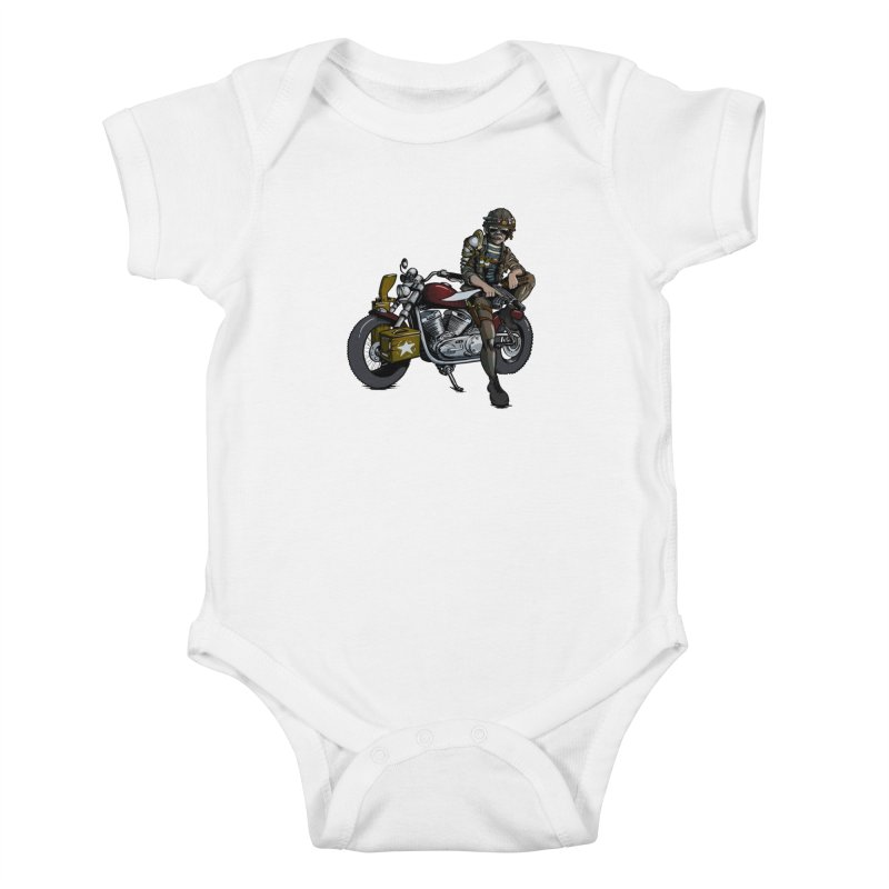 Four Riders: War Kids Baby Bodysuit by Cory Kerr's Artist Shop (see more at corykerr.com)