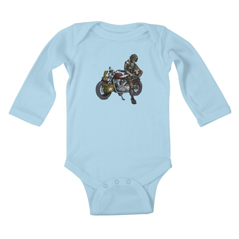 Four Riders: War Kids Baby Longsleeve Bodysuit by Cory Kerr's Artist Shop (see more at corykerr.com)