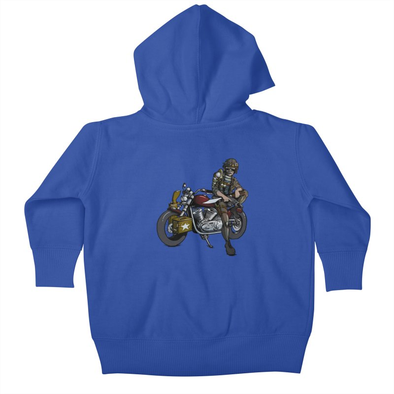 Four Riders: War Kids Baby Zip-Up Hoody by Cory Kerr's Artist Shop (see more at corykerr.com)