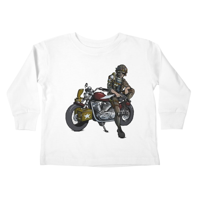 Four Riders: War Kids Toddler Longsleeve T-Shirt by Cory Kerr's Artist Shop (see more at corykerr.com)