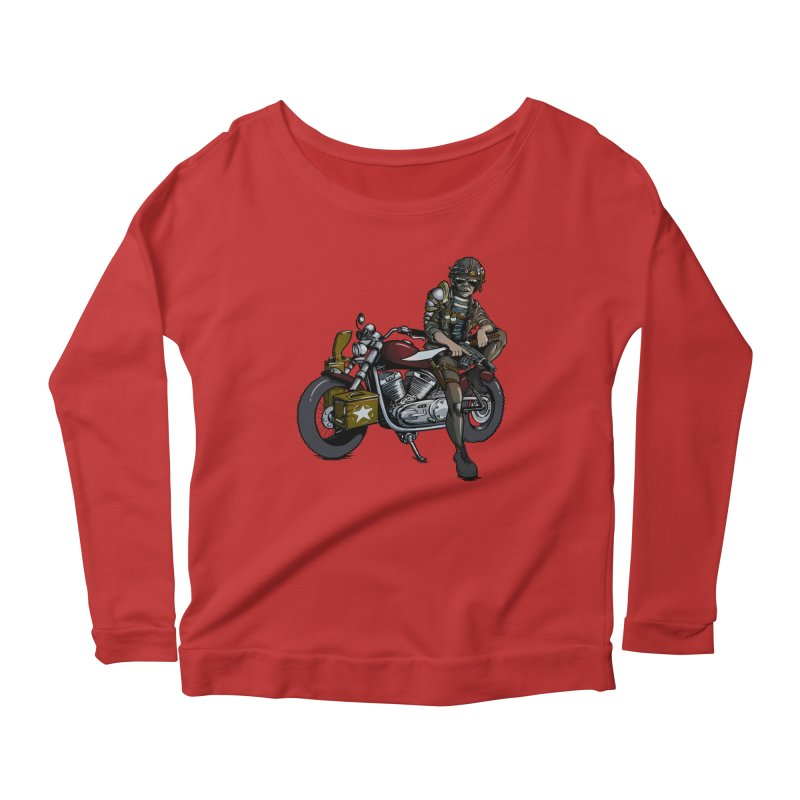 Four Riders: War Women's Longsleeve Scoopneck  by Cory Kerr's Artist Shop (see more at corykerr.com)