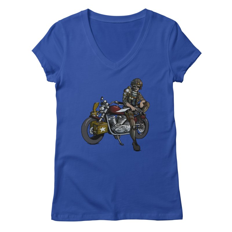 Four Riders: War Women's V-Neck by Cory Kerr's Artist Shop (see more at corykerr.com)