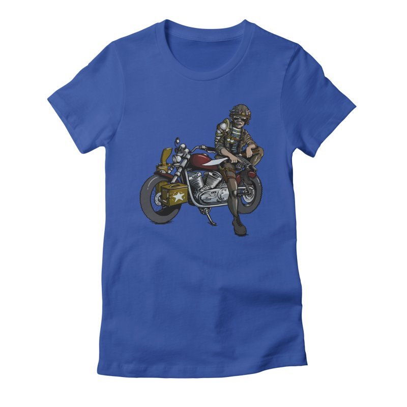 Four Riders: War Women's Fitted T-Shirt by Cory Kerr's Artist Shop (see more at corykerr.com)