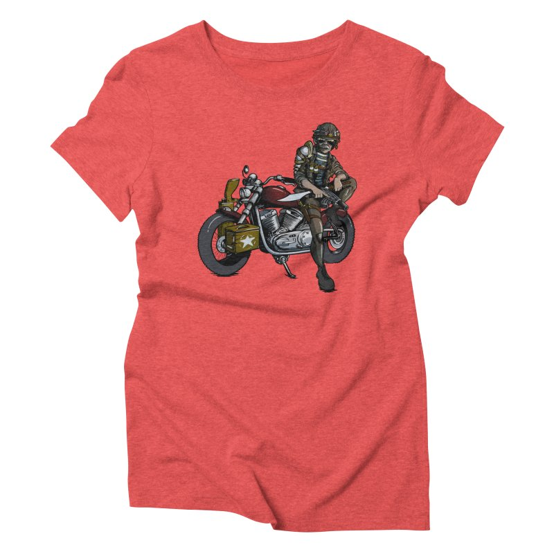 Four Riders: War Women's Triblend T-shirt by Cory Kerr's Artist Shop (see more at corykerr.com)