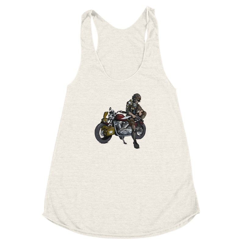 Four Riders: War Women's Racerback Triblend Tank by Cory Kerr's Artist Shop (see more at corykerr.com)