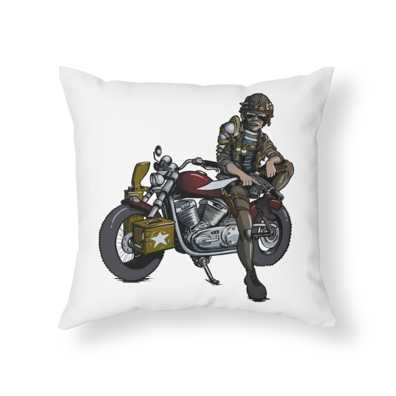 Four Riders: War Home Throw Pillow by Cory Kerr's Artist Shop (see more at corykerr.com)