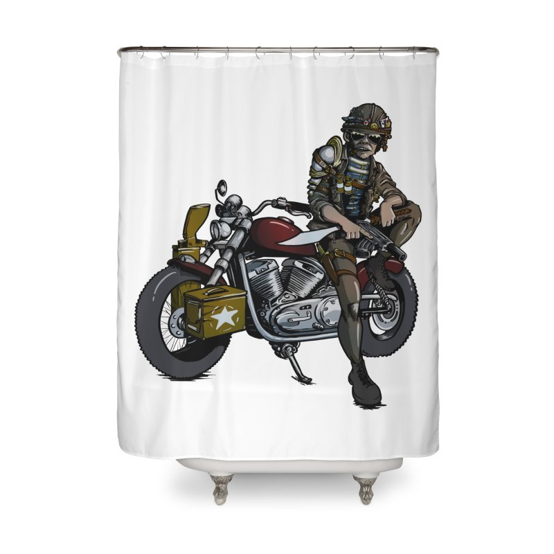 Four Riders: War Home Shower Curtain by Cory Kerr's Artist Shop (see more at corykerr.com)