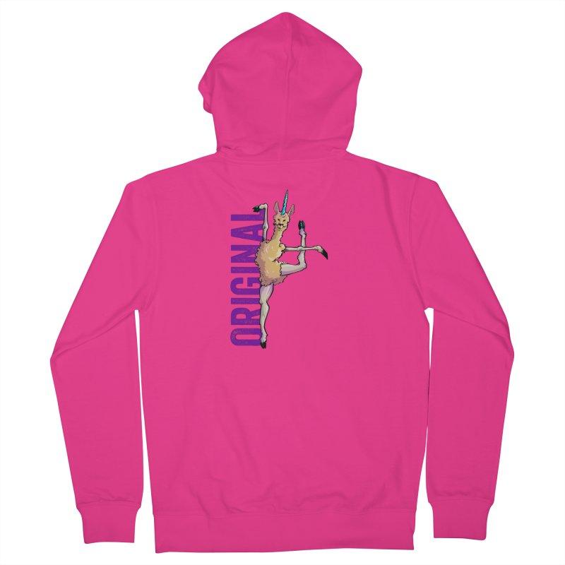 Llamacorn: original Men's Zip-Up Hoody by Cory Kerr's Artist Shop (see more at corykerr.com)