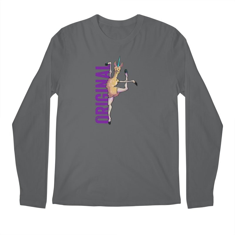 Llamacorn: original Men's Longsleeve T-Shirt by Cory Kerr's Artist Shop (see more at corykerr.com)