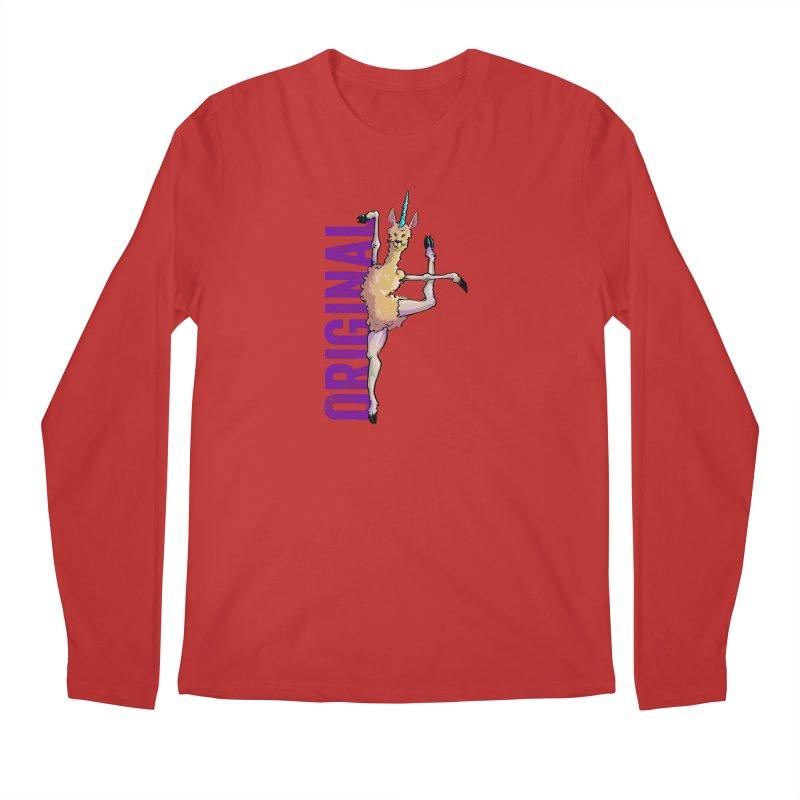 Llamacorn: original Men's Longsleeve T-Shirt by Cory Kerr's Artist Shop (see more at corykerr.com)