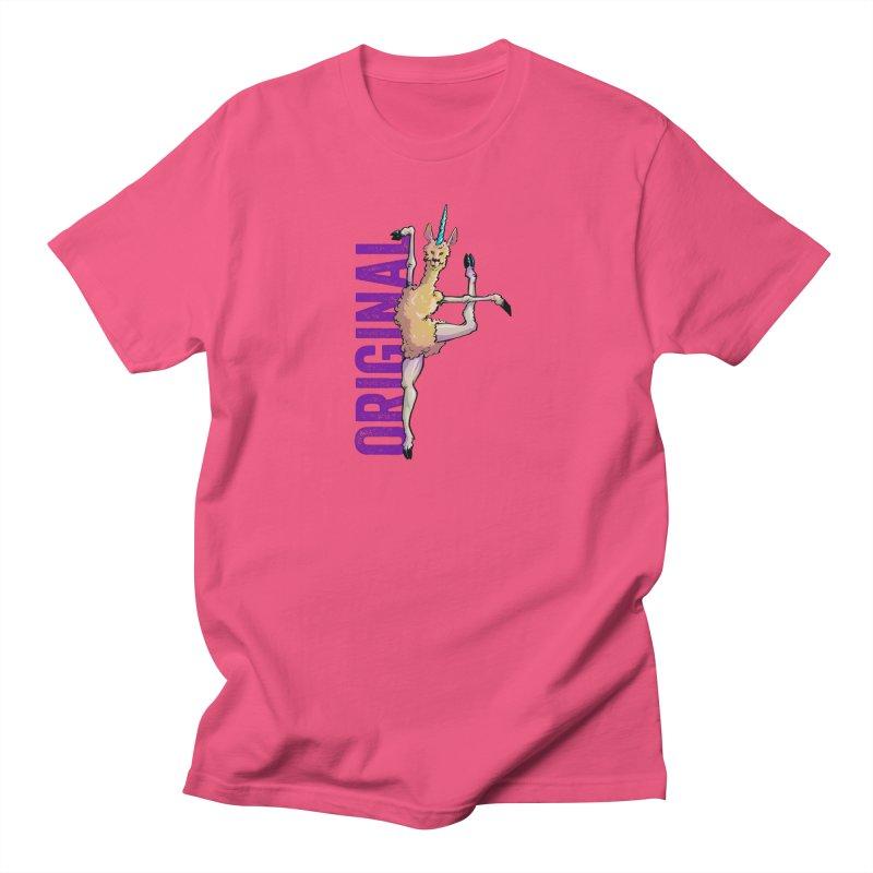 Llamacorn: original Women's Unisex T-Shirt by Cory Kerr's Artist Shop (see more at corykerr.com)