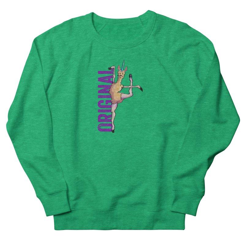 Llamacorn: original Women's Sweatshirt by Cory Kerr's Artist Shop (see more at corykerr.com)