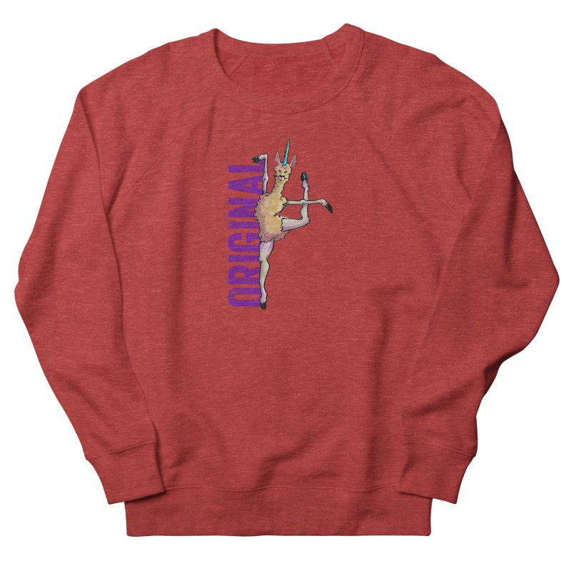Llamacorn: original Men's Sweatshirt by Cory Kerr's Artist Shop (see more at corykerr.com)