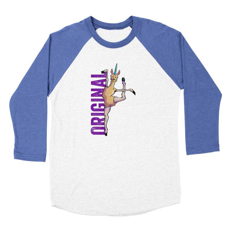 Llamacorn: original Women's Baseball Triblend T-Shirt by Cory Kerr's Artist Shop (see more at corykerr.com)