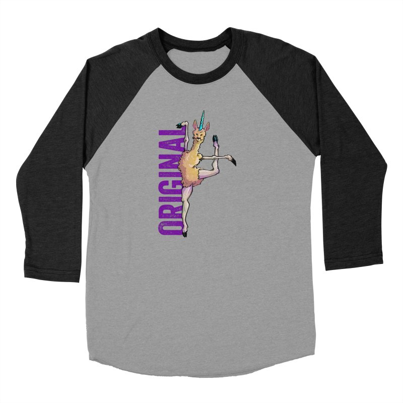 Llamacorn: original Men's Baseball Triblend T-Shirt by Cory Kerr's Artist Shop (see more at corykerr.com)