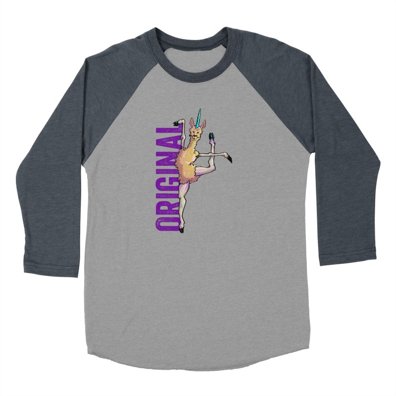 Llamacorn: original Men's Baseball Triblend T-Shirt by Cory Kerr's Artist Shop (see more at corykerr.com)