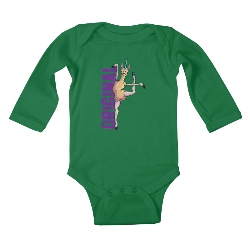 Llamacorn: original Kids Baby Longsleeve Bodysuit by Cory Kerr's Artist Shop (see more at corykerr.com)