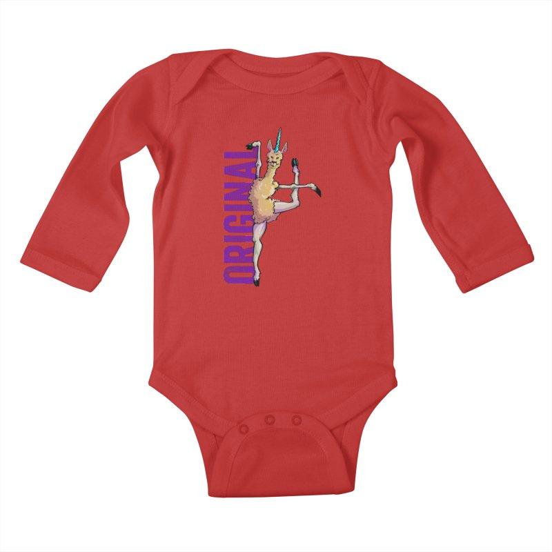 Llamacorn: original Kids Baby Longsleeve Bodysuit by Cory Kerr's Artist Shop (see more at corykerr.com)