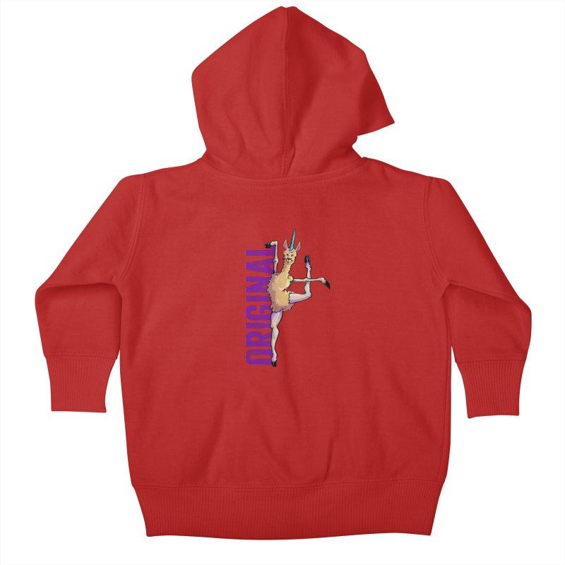 Llamacorn: original Kids Baby Zip-Up Hoody by Cory Kerr's Artist Shop (see more at corykerr.com)