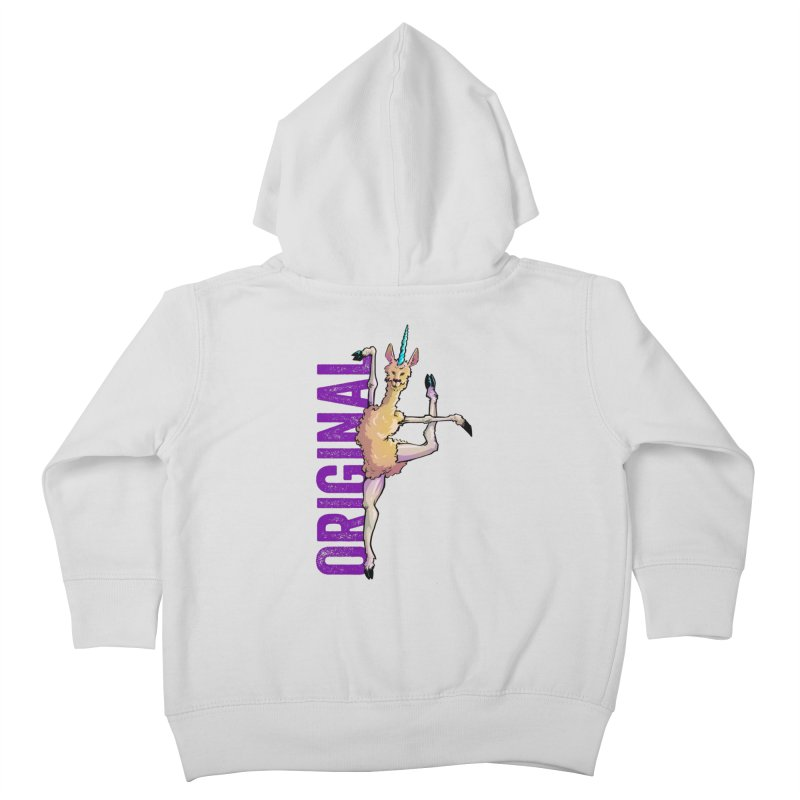 Llamacorn: original Kids Toddler Zip-Up Hoody by Cory Kerr's Artist Shop (see more at corykerr.com)