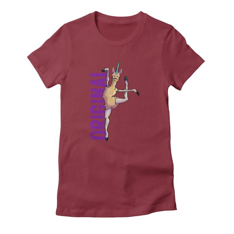 Llamacorn: original Women's Fitted T-Shirt by Cory Kerr's Artist Shop (see more at corykerr.com)