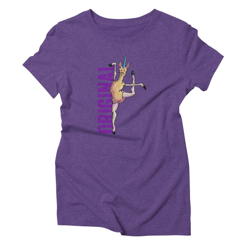 Llamacorn: original Women's Triblend T-Shirt by Cory Kerr's Artist Shop (see more at corykerr.com)