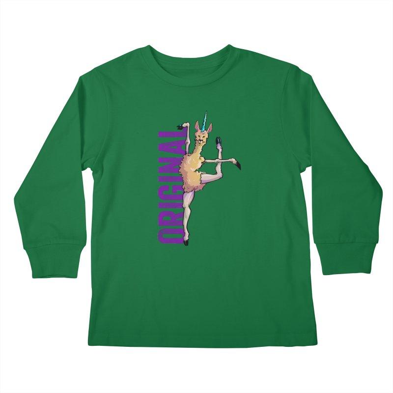 Llamacorn: original Kids Longsleeve T-Shirt by Cory Kerr's Artist Shop (see more at corykerr.com)