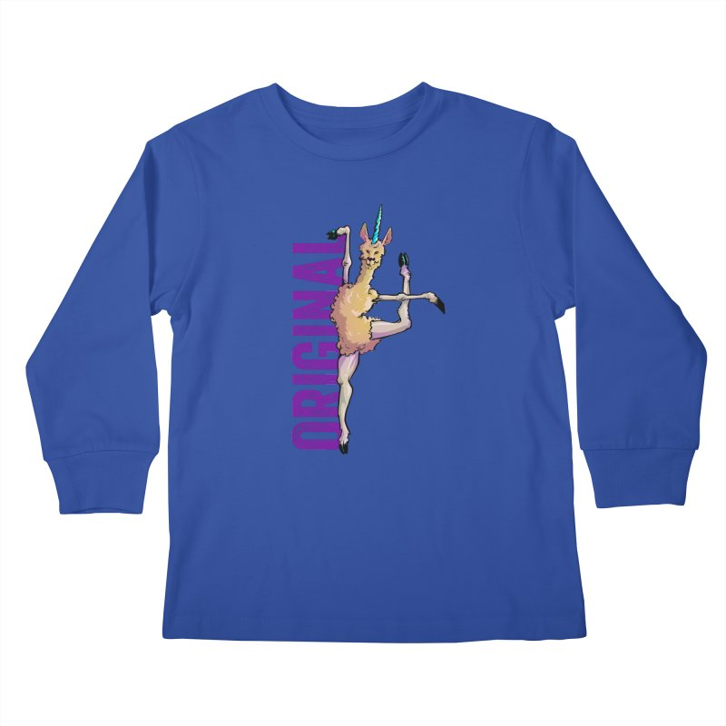 Llamacorn: original Kids Longsleeve T-Shirt by Cory Kerr's Artist Shop (see more at corykerr.com)