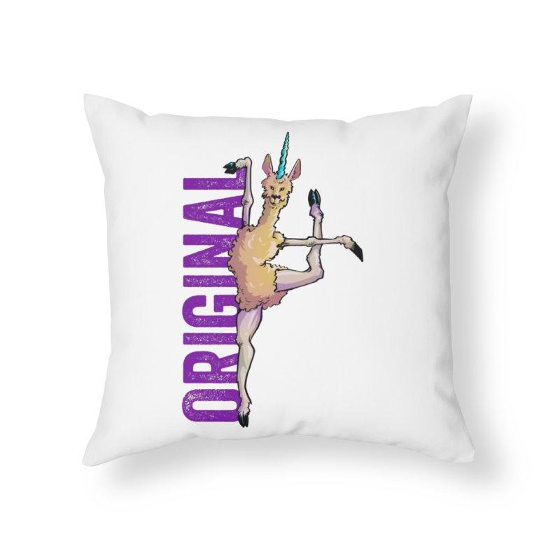 Llamacorn: original Home Throw Pillow by Cory Kerr's Artist Shop (see more at corykerr.com)