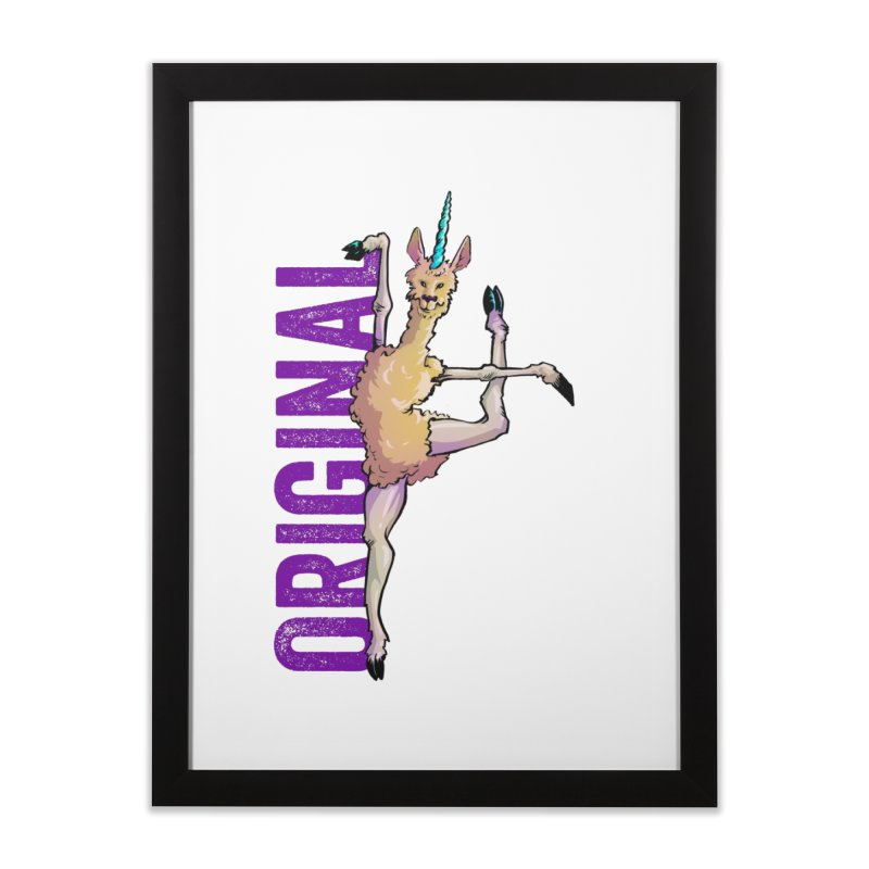 Llamacorn: original Home Framed Fine Art Print by Cory Kerr's Artist Shop (see more at corykerr.com)
